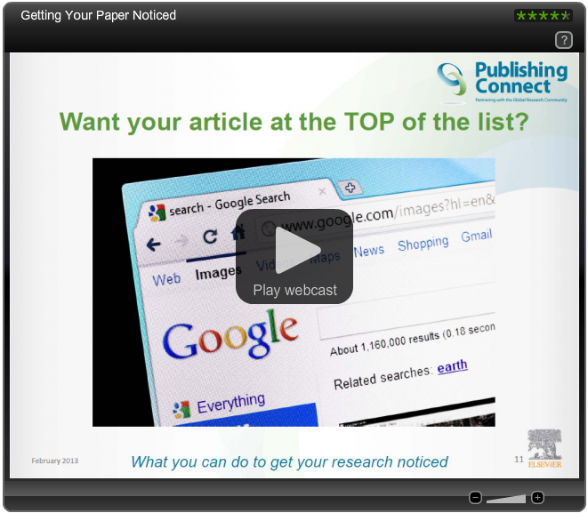 New webinar series: what publishers do—and how to get published - 웹