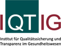 Logo of the associated society or organization at https://www.iqtig.org/startseite