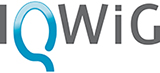 Logo of the associated society or organization at https://www.iqwig.de